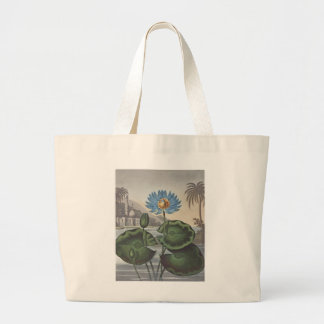 RJ Thornton - The Blue Egyptian Water-Lily Canvas Bags