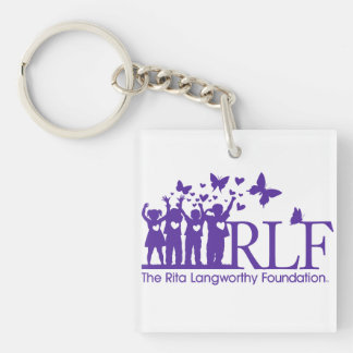 RLF Logo Square (double-sided) Keychain