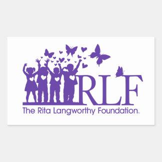 RLF Signature Logo Rectangle Sticker, Glossy Sticker