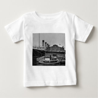 RMS Olympic at Pier 59 Vintage Glass Slide 1911 Baby T-Shirt