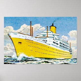 RMS Orsova at Sea Poster