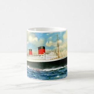 RMS Queen Elizabeth Classic White Coffee Mug