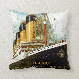RMS Titanic 100th Anniversary Canvas Throw Pillows