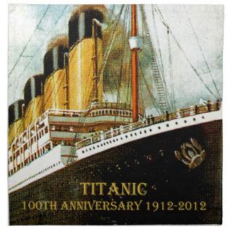 RMS Titanic 100th Anniversary napkin
