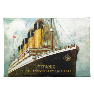 RMS Titanic 100th Anniversary Placemat