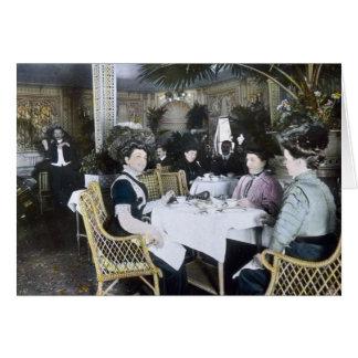 RMS Titanic 1st Class Passengers Enjoy Luxury Card