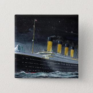 RMS Titanic 2 Inch Square Button