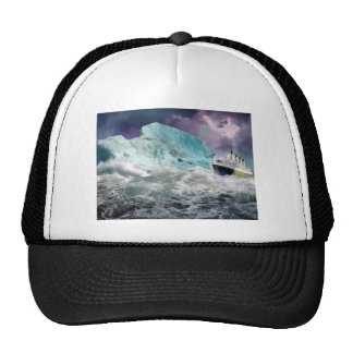 RMS Titanic and Iceberg Painting Trucker Hat