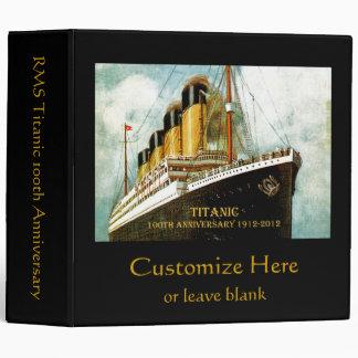 RMS Titanic Anniversary 3 Ring Binder