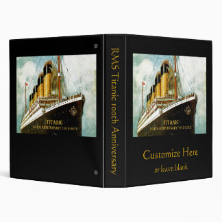 RMS Titanic Anniversary Vinyl Binder