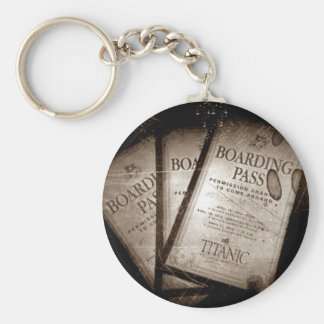RMS Titanic Boarding Passes Basic Round Button Keychain