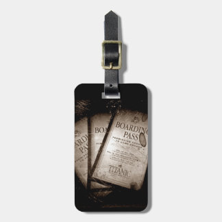 RMS Titanic Boarding Passes Luggage Tag