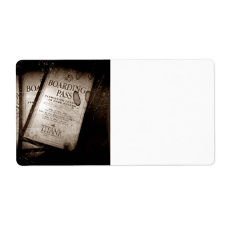 RMS Titanic Boarding Passes Shipping Label
