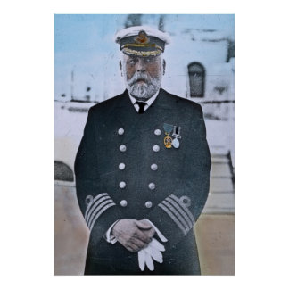 RMS Titanic Captain Edward J. Smith Poster