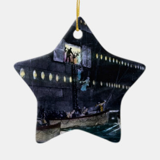 RMS Titanic Escape to the Lifeboats Quickly! Ceramic Star Ornament