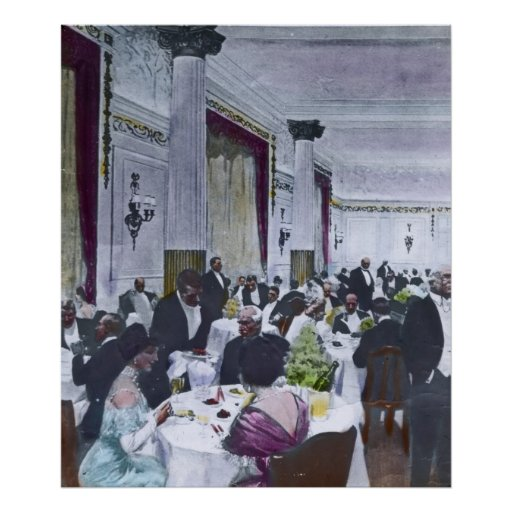 Rms titanic grand dining room vintage poster zazzle for Dining room posters