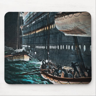 RMS Titanic Launching of the Lifeboats Vintage Mouse Pad