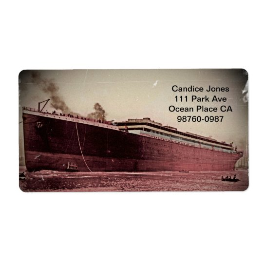 RMS Titanic Maiden Voyage Shipping Label