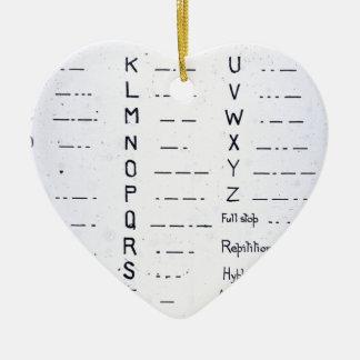 RMS Titanic Morse Code Vintage S.O.S. Ceramic Heart Ornament