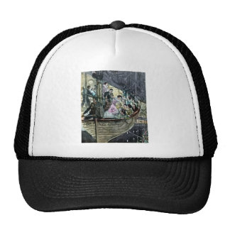 RMS Titanic Panic on Deck Rush for the Lifeboats Trucker Hats