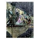 RMS Titanic Panic on Deck Rush for the Lifeboats Postcard
