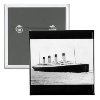 RMS Titanic Passenger Liner 2 Inch Square Button