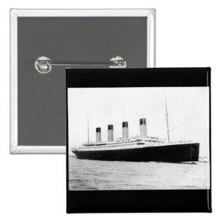 RMS Titanic Passenger Liner 2 Inch Square Button