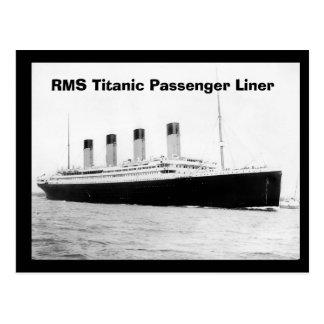 RMS Titanic Passenger Liner Postcard