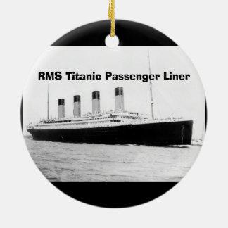 RMS Titanic Passenger Liner Round Ceramic Ornament