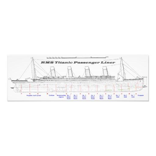 RMS Titanic Passenger Liner Side View Photo Art
