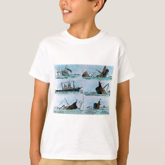 RMS Titanic Sinking Magic Lantern Slide T-Shirt