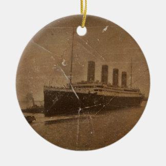 RMS Titanic Southampton Round Ceramic Ornament
