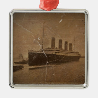 RMS Titanic Southampton Silver-Colored Square Ornament