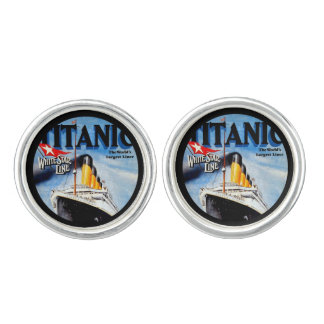 RMS Titanic Travel Ad Cuff Links