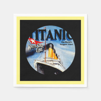 RMS Titanic Travel Ad Disposable Napkins