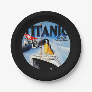 RMS Titanic Travel Ad Paper Plate