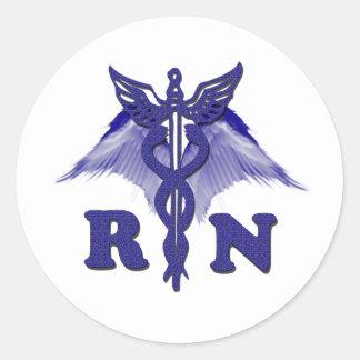RN Angel Round Sticker