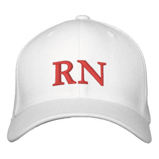 RN EMBROIDERED BASEBALL CAP
