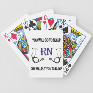 RN Go to Sleep Bicycle Playing Cards