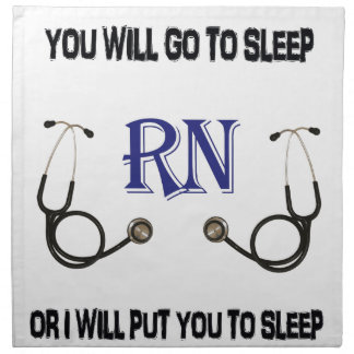RN Go to Sleep Napkin