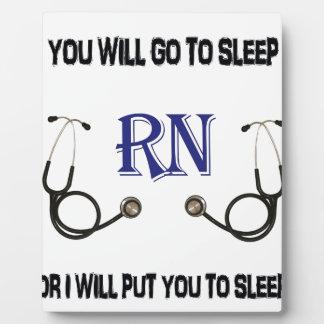 RN Go to Sleep Plaque