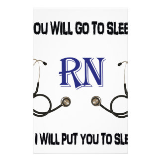 RN Go to Sleep Stationery