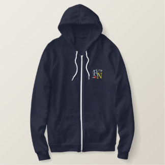 Rn Logo Embroidered Hoodie