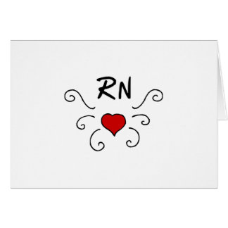 RN Love Tattoo Note Card