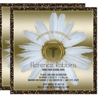 RN Nurse Graduation | Daisy Gold Pinning Ceremony Card