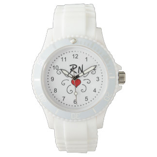 RN Nurse Love Tattoo Watch