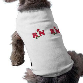 RN Nurse Rose Doggie Tee