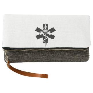 RN Nursing Medical Symbols Clutch