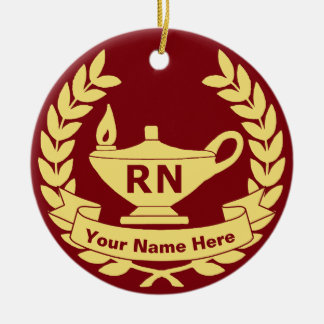 RN (Registered Nurse) Ceramic Ornament