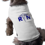 RN (Registered Nurse) Gifts-Embossed Style Dog Tee Shirt
